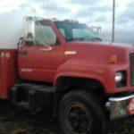 Propane tank truck