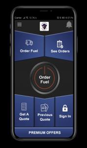 phone showing app
